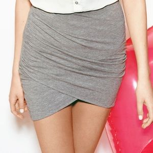 H&M Divided Gray Bodycon Mini Wrap Skirt Size S